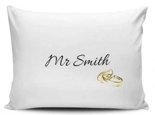 Personalised Mr Gold Rings Pillow Case
